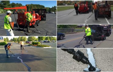 asphalt crack sealing during winter
