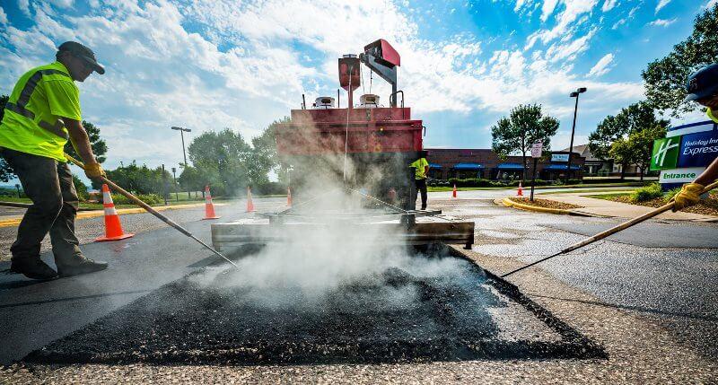 infrared pothole repair