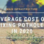 average cost of potholes