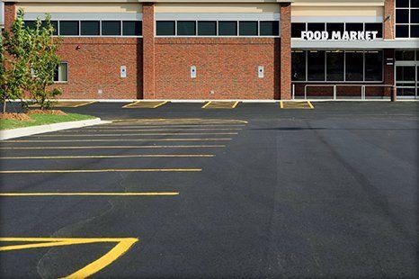 parking lot installation