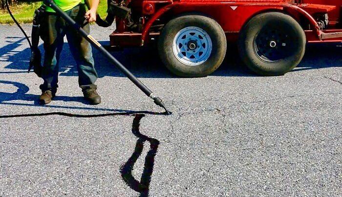 asphalt filling