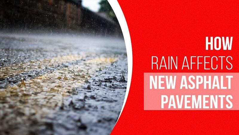 how rain affects asphalt