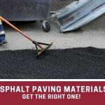 asphalt material types