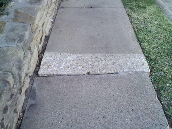 paving damaged sidewalks